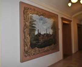 Malowidło ścienne z XIX w., Ratusz, Plac Wolności, Bystrzyca Kłodzka