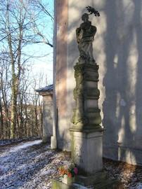 Barokowa kolumna Maryjna koło kaplicy św. Floriana na Górze Parkowej w Bystrzycy Kłodzkiej